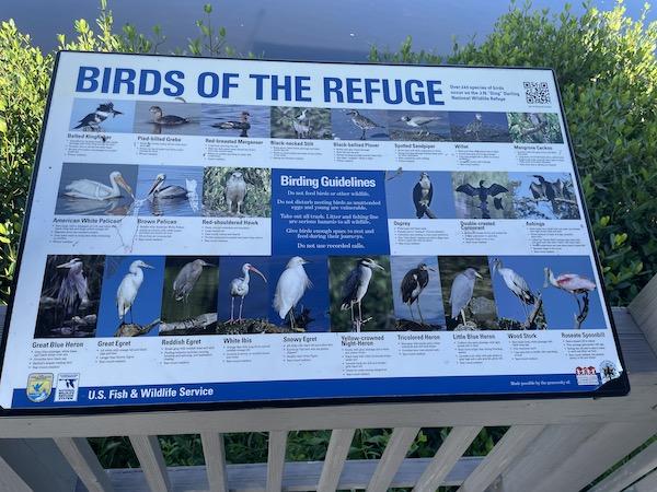Birds of the Refuge identification chart