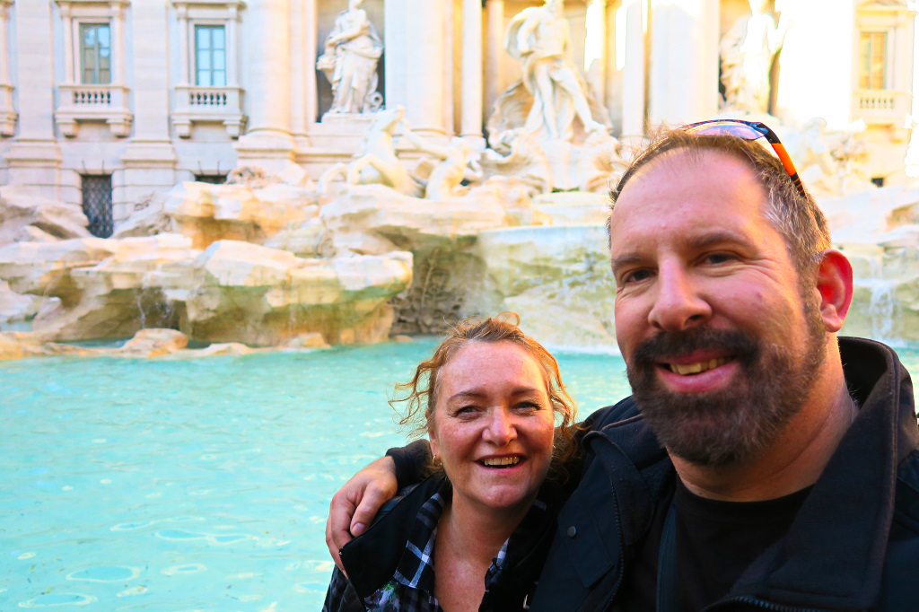 At the Trevi Fountain, Rome