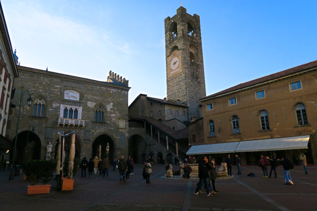 The Ancient Center in Bergamo, Ital