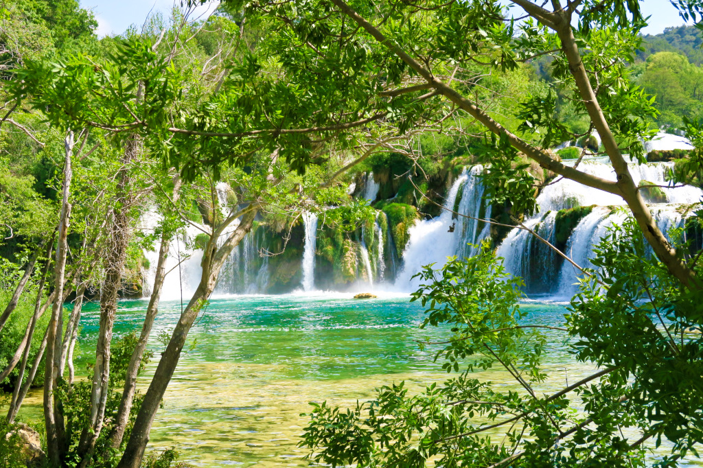 The famous Stradinski Buk Falls in Krka