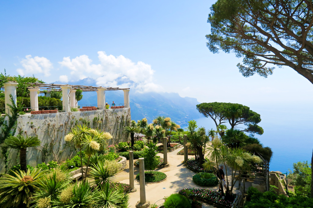 At Villa Rufolo, high up the coastline in Ravello