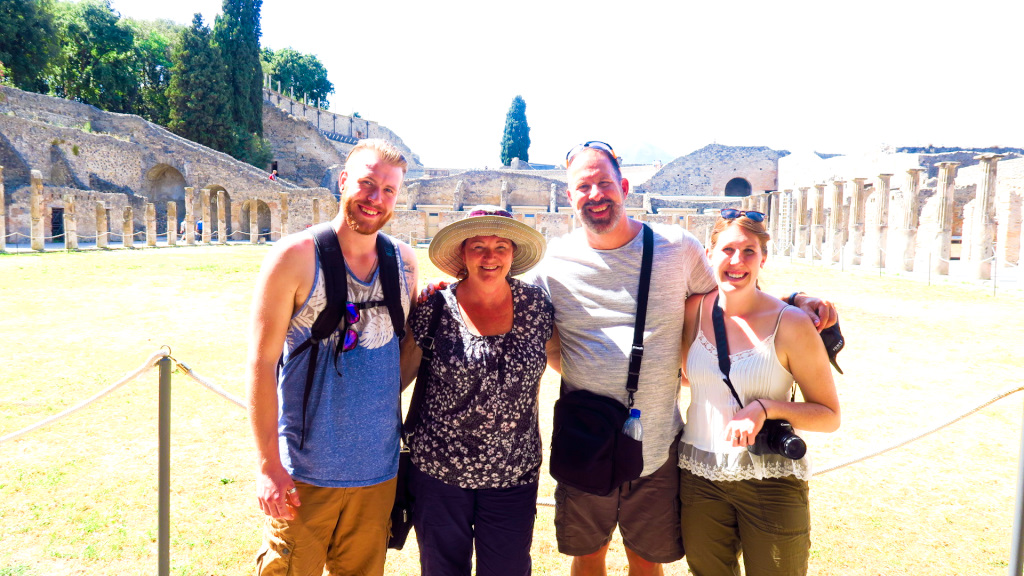 The Bec's visiting the ruins of Pompeii