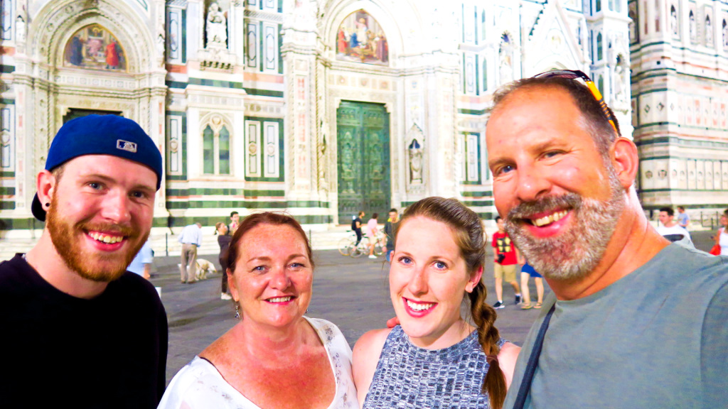 In front of the Florence Cathedra
