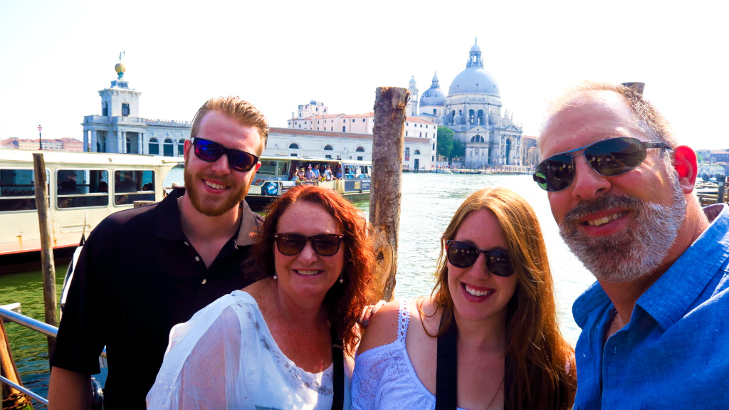 Visiting Venice, Italy with family