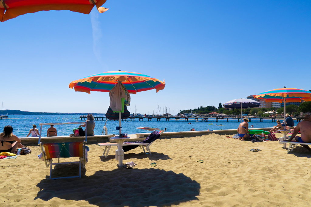 The Beach in Portoroz