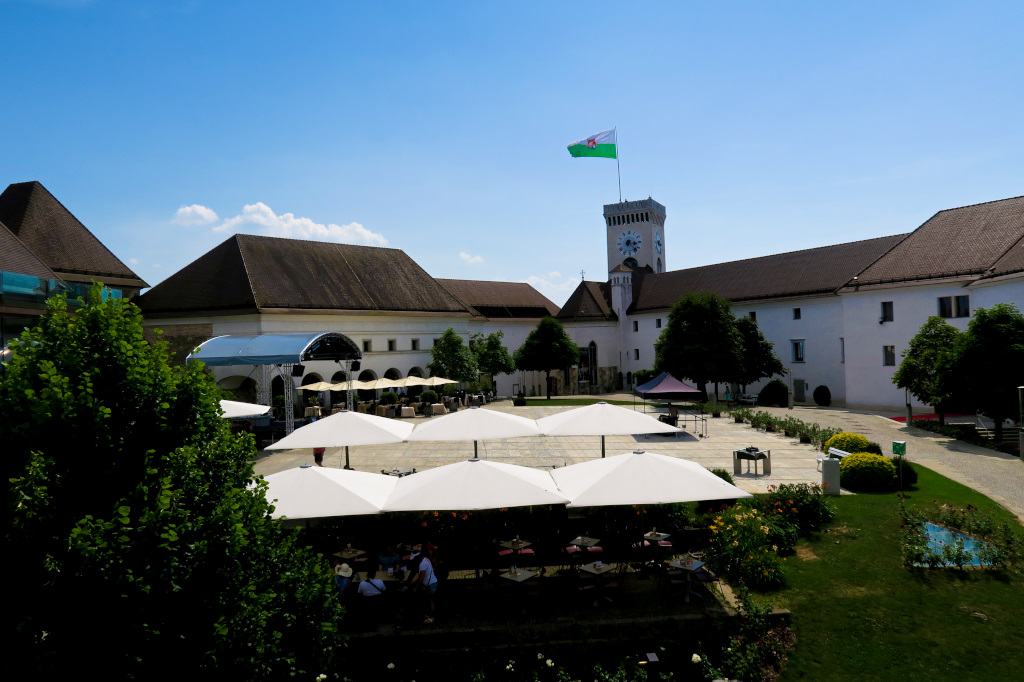 The courtyard in Ljubljana Castle