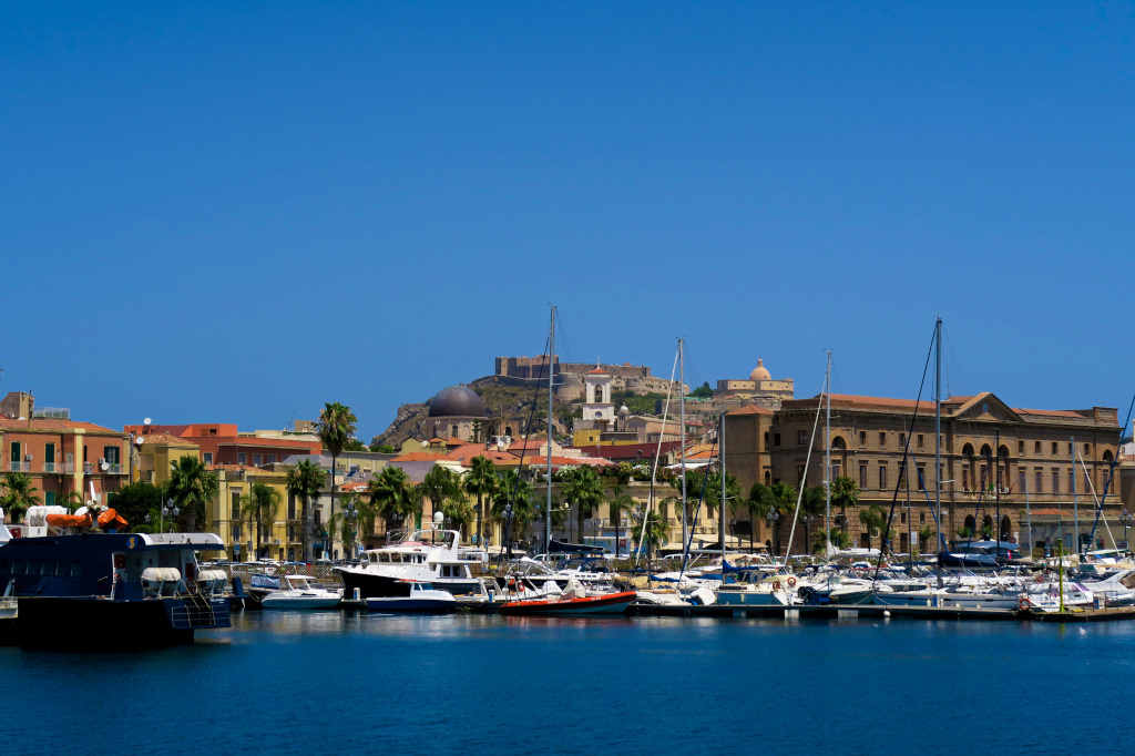 The harbor in Milazzo, Sicily