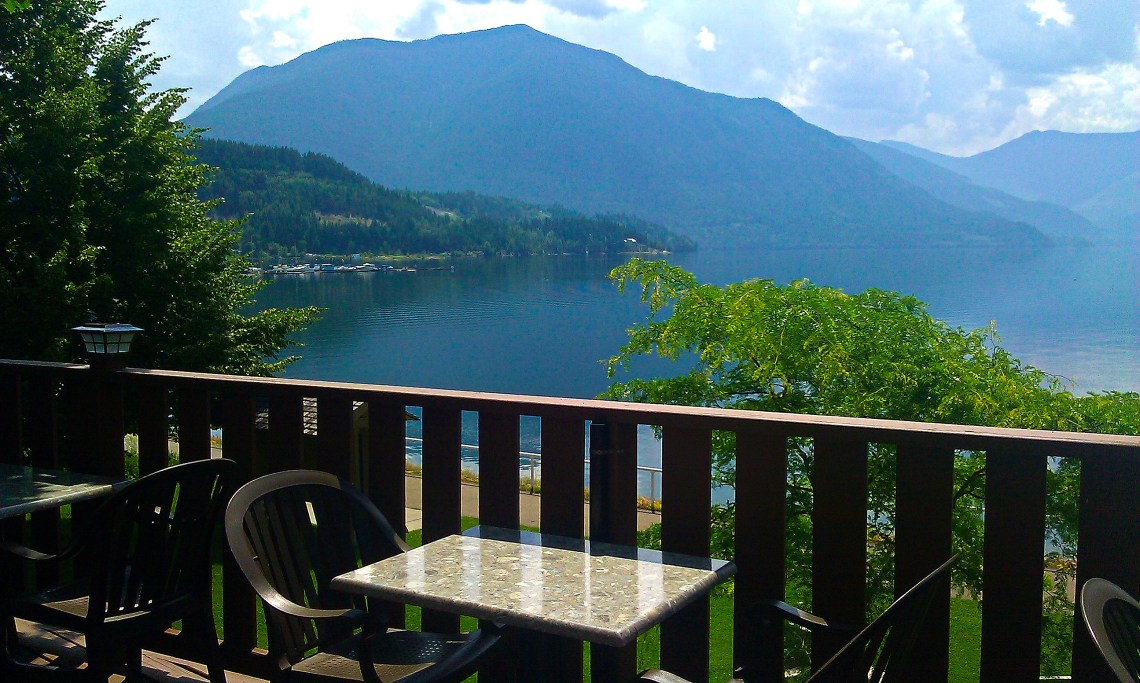 The Patio at Cafe Lago, Nakusp