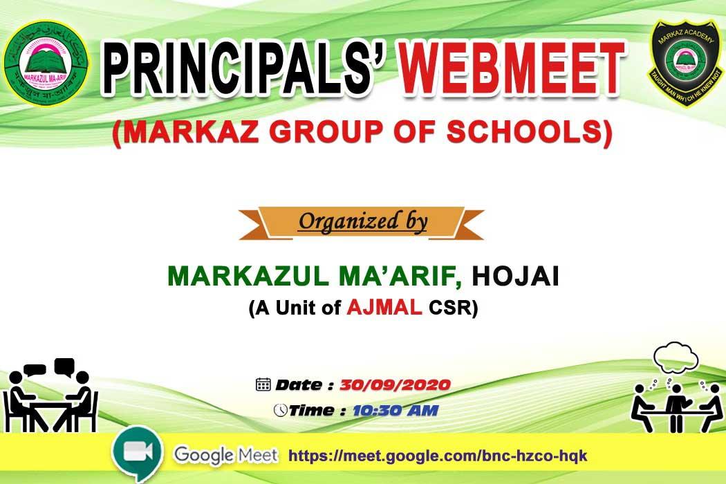 Principals' Webmeet
