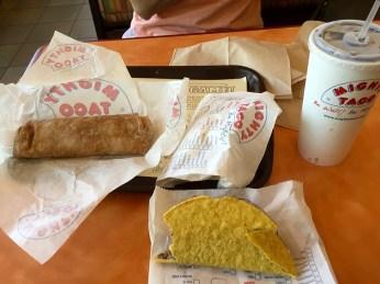Tacos and burritos.