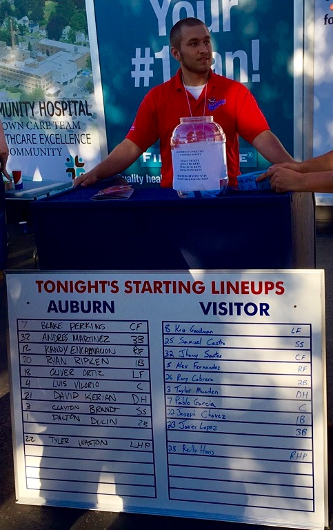 Opening Day lineups.