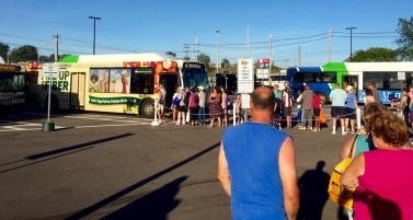 A Fair bus depot.
