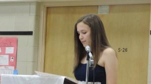 Sophie speaking