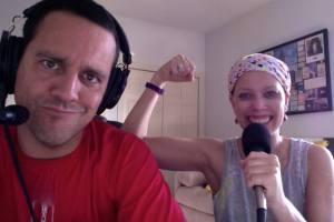 jenn makes a muscle
