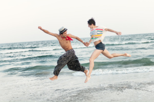 dance on beach