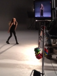 madelyn in video shoot