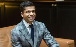 veeral in nice suit
