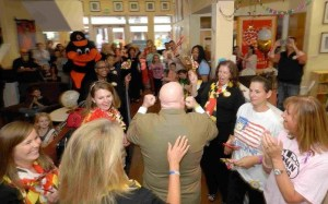 hogan at rmh pep rally