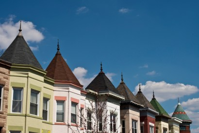 "I really love walking around and seeing these colorful homes. They really just scream ""DC!"" to me."