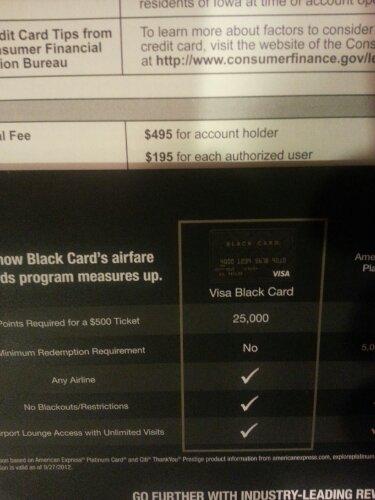 Barclays Black Credit Card offer