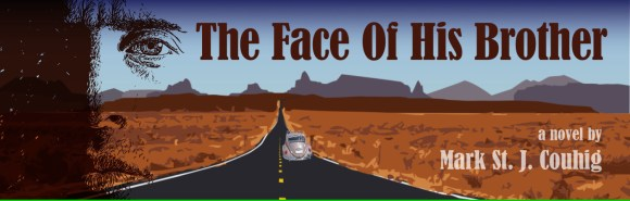 The Face of His Brother book cover. A novel by Mark St. J. Couhig