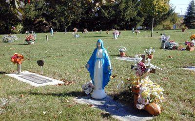 Virgin Mary with deer