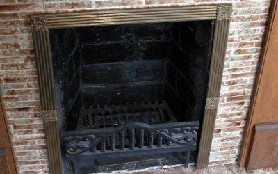 Ronald Reagan boyhood fireplace, hidden pennies