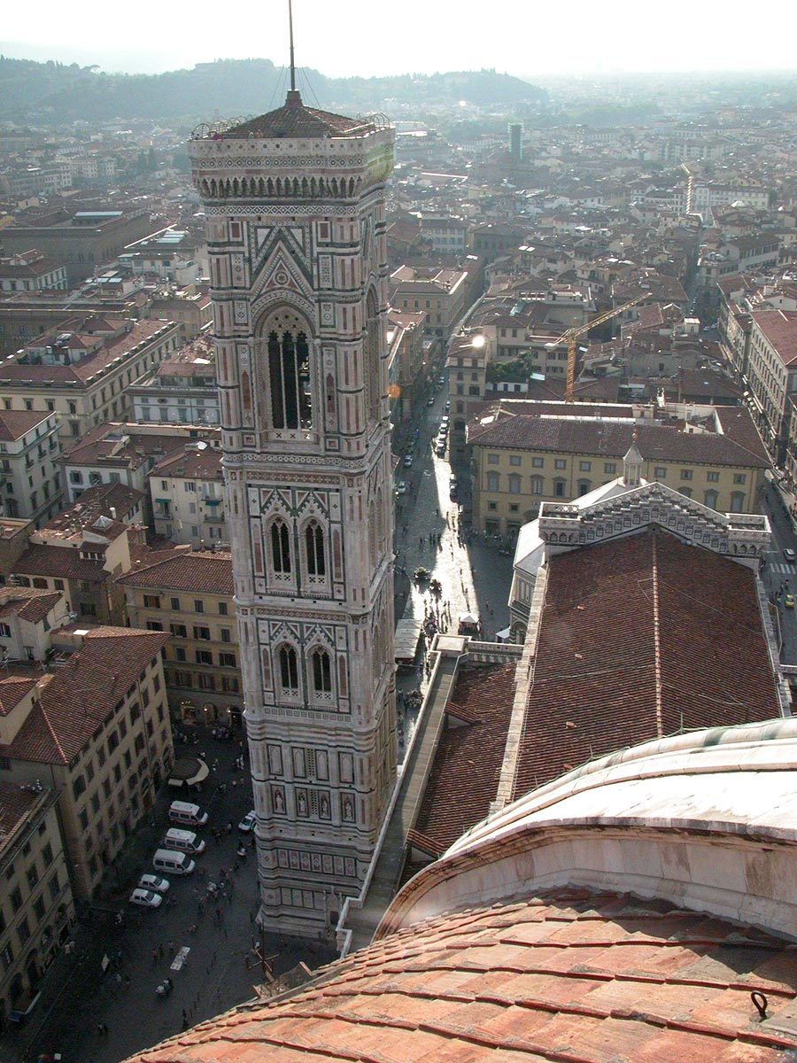 campanile di giotto from duomo  florence  italy