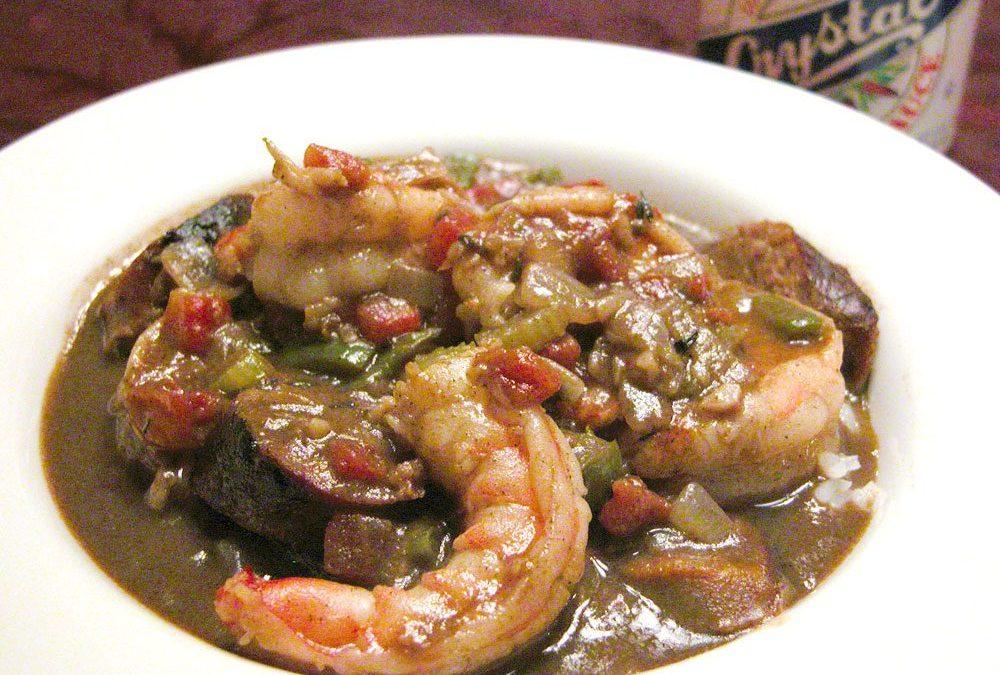 Alton Brown's shrimp gumbo recipe: Brown roux in oven