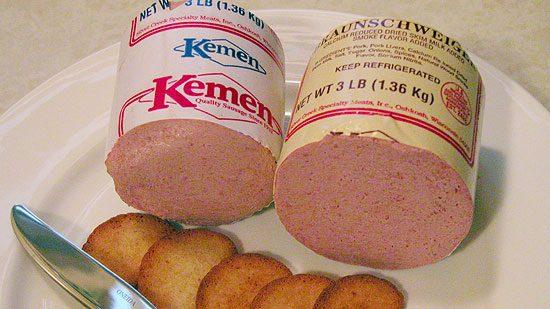 Kemen liver sausage and braunschweiger