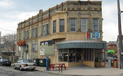Hi-Fi Cafe restaurant, Bay View, Milwaukee, Wisconsin