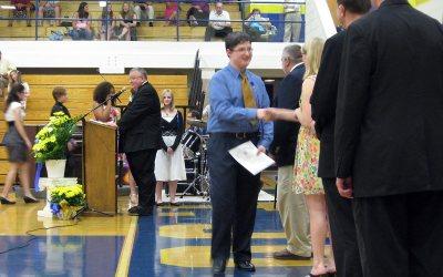 Ian graduates 8th grade, St. Joseph, Kenosha, Wisconsin