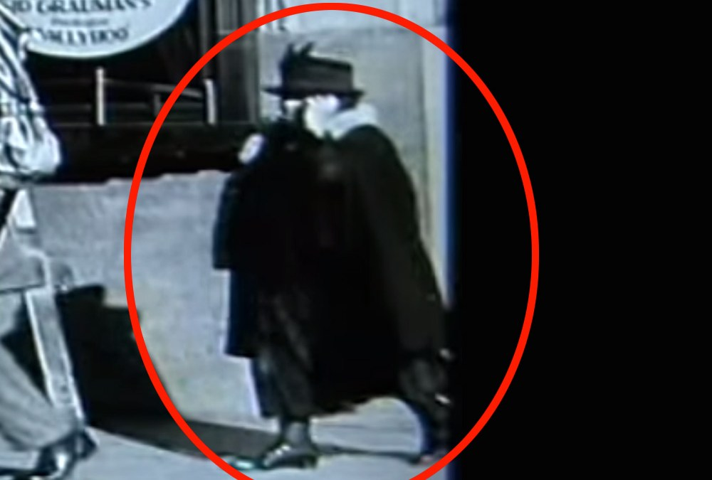 Time travel: Cell phone used in Charlie Chaplin film?