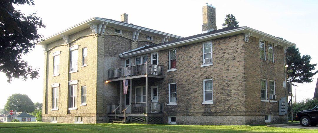 Historic Joshua Pierce home viewed from Pierce Boulevard, Racine, Wisconsin