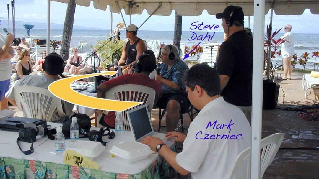 Mark Czerniec working for the Steve Dahl Show, broadcasting from Hawaii