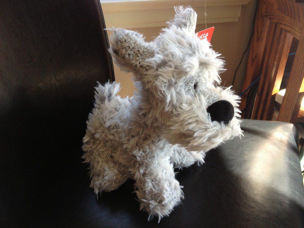 stuffed animal: Gund brand dog named Bentley