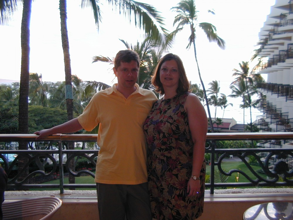 Mark and me at The Four Seasons on Maui