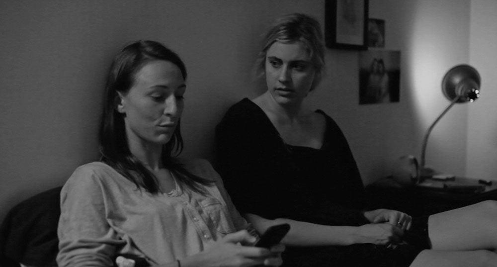 Frances Ha (movie, 2013): Mickey Sumner and Greta Gerwig