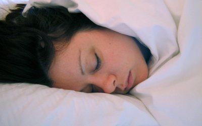 Amy sleeping