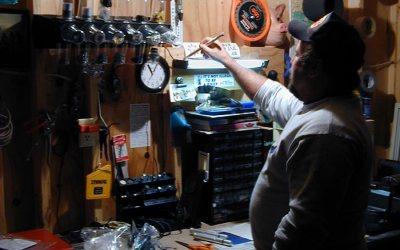 Workbench in Jim's garage, Kenosha, Wisconsin