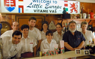 Restaurant owners and staff: Little Europe, Kenosha