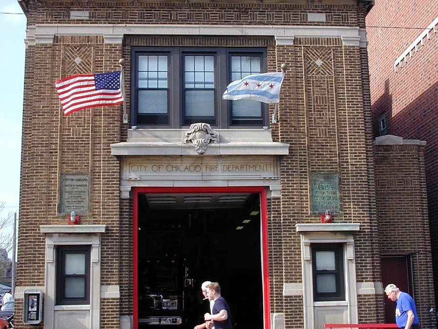 Wrigley Field firehouse: Chicago Fire Department Engine 78