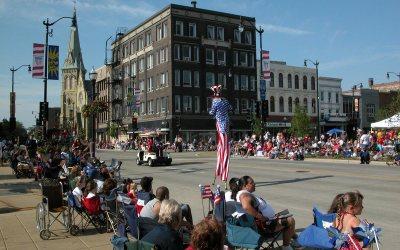 4th of July parade, Main Street, Racine, Wisconsin