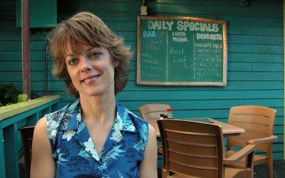 Amy at Aloha Mixed Plate restaurant, Lahaina, Maui