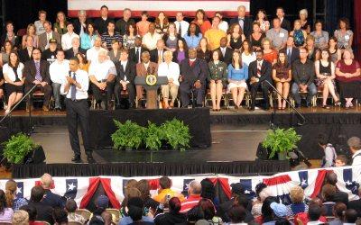 President Barack Obama, Memorial Hall, Racine, Wisconsin
