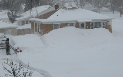 Blizzard of 2011 vs. snowblower, Racine, Wisconsin