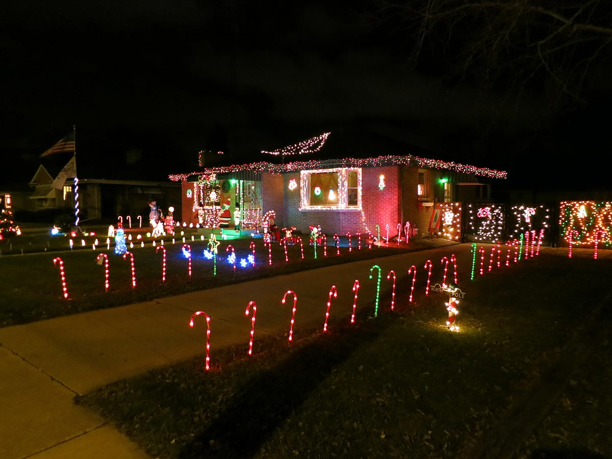 Christmas Decorations Candy Cane Lights Racine Wisconsin