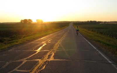 Cycling Kenosha County Highway A, Wisconsin