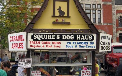 Corn dogs: Squire's Dog Haus, festival food vendor