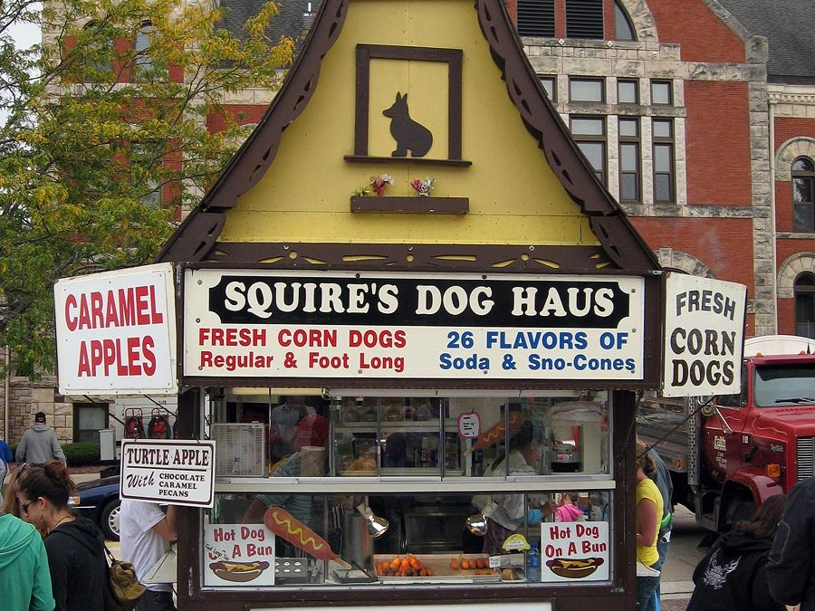 Corn dogs: Squire's Dog Haus, festival food vendor